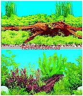 Фон для аквариума двусторонний коряга/растения, высота 40 см, 9009/9021