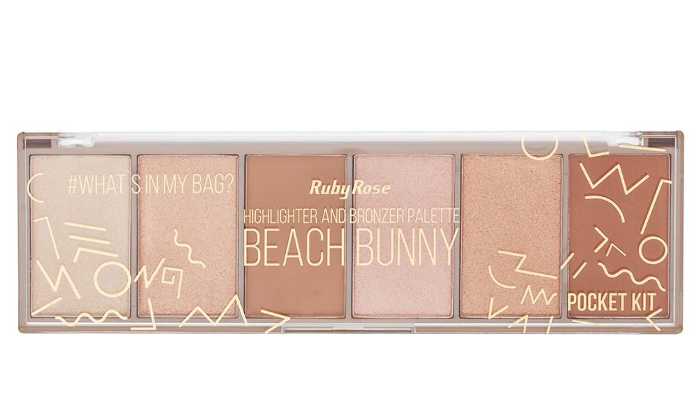 Beach Bunny палетка хайлайтеров и бронзеров Ruby Rose Highlighter and Bronzer Palette НВ-7514