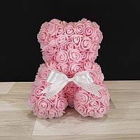 Мишка Из Роз Розовый (на подарок к 8 марта девушке, любимой)