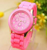 Женские часы Geneva Luxury розовые, фото 1