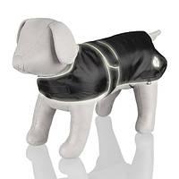 """Попона Trixie """"Tcoat Orleans"""", светоотражающая, черная, S, 42-55 см, длина спинки 40 см, 30514"""