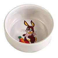 Миска керамическая для кролика Trixie, 0,3л/11см