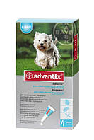 Капли Bayer Advantix Адвантикс от блох и клещей для собак весом 4-10 кг, пипетка 1мл