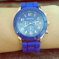 Женские часы Geneva Luxury синие