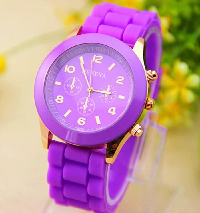 Женские часы Geneva Luxury фиолетовые