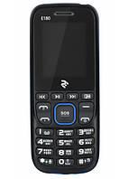 """Мобильный телефон 2E E180 DS Black/Blue черный/синий (2SIM) 1,77"""" 0.3МП оригинал Гарантия!"""