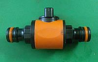 Адаптер на коннектор двойной с краном.