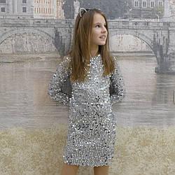 """Платье для девочек """"Лина"""", пайетка, размеры 34-42"""