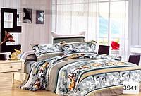 Сатиновое постельное белье полуторка ELWAY 3941