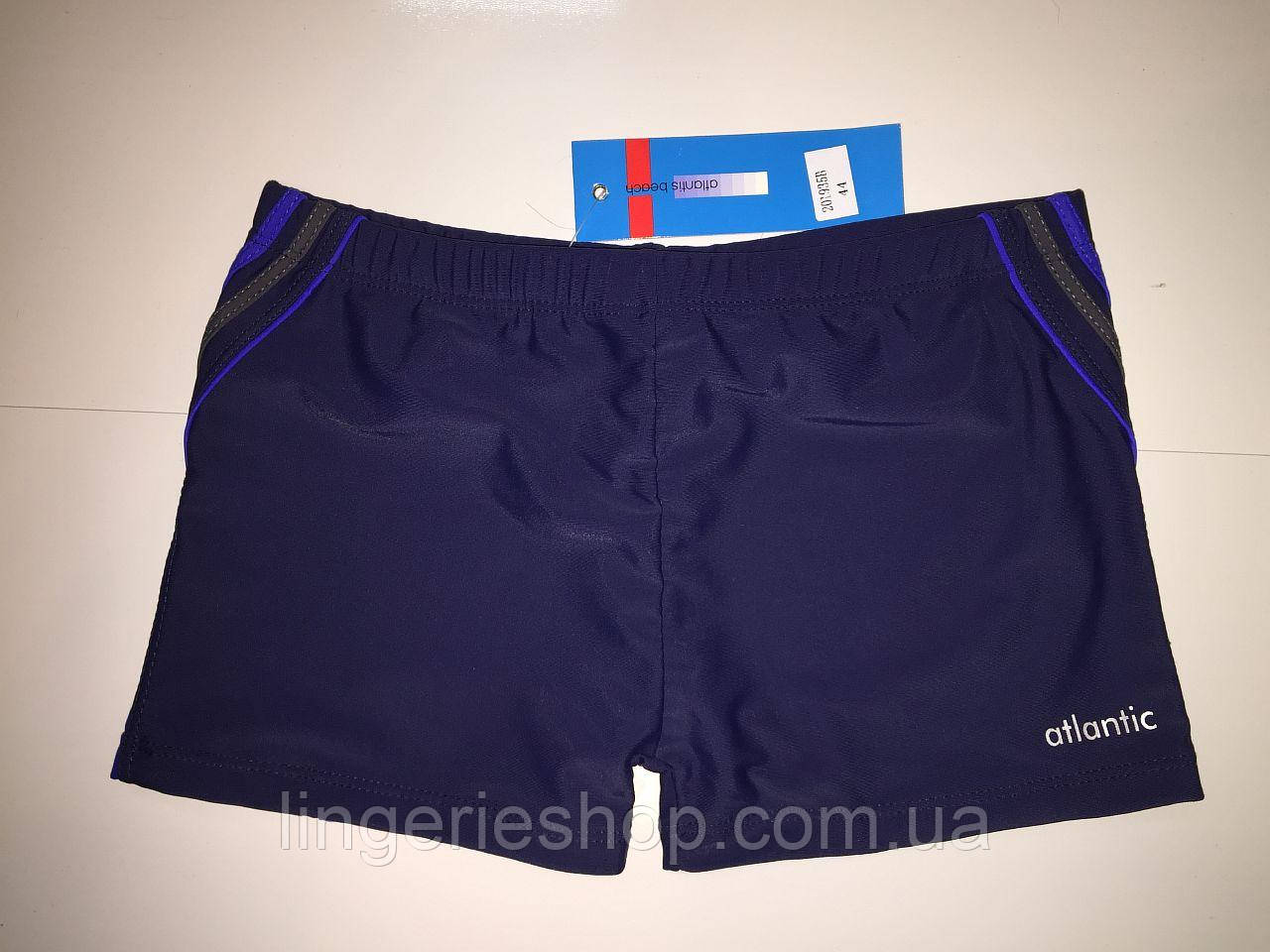 Плавки-шорты юниор Atlantic синий с электрик