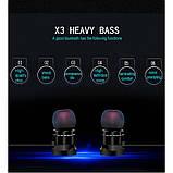 Беспроводные bluetooth наушники Hongsund X3 HD Stereo Heavy Bass магнитные, фото 9