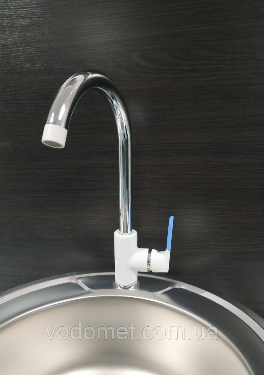 LEDEME LM4053W Смеситель для кухни (Цвет белый)