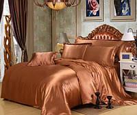 Комплект постельного белья из атласа Бронза