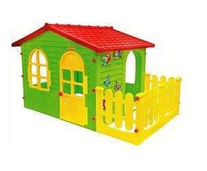 Домик с террасой XXL (красная крыша) Mochtoys