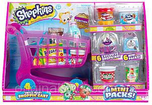 Набор Shopkins Супермаркет тележка Шопкинс с набором продуктов Small Mart Shopping Cart