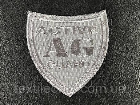 Нашивка Active Guard колір сірий 55х60 мм, фото 2