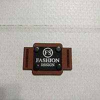 Бирка-лейба FASHION 12 26*15мм коричневая