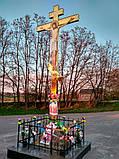 Поклонный крест из булата разных размеров 3м, фото 2