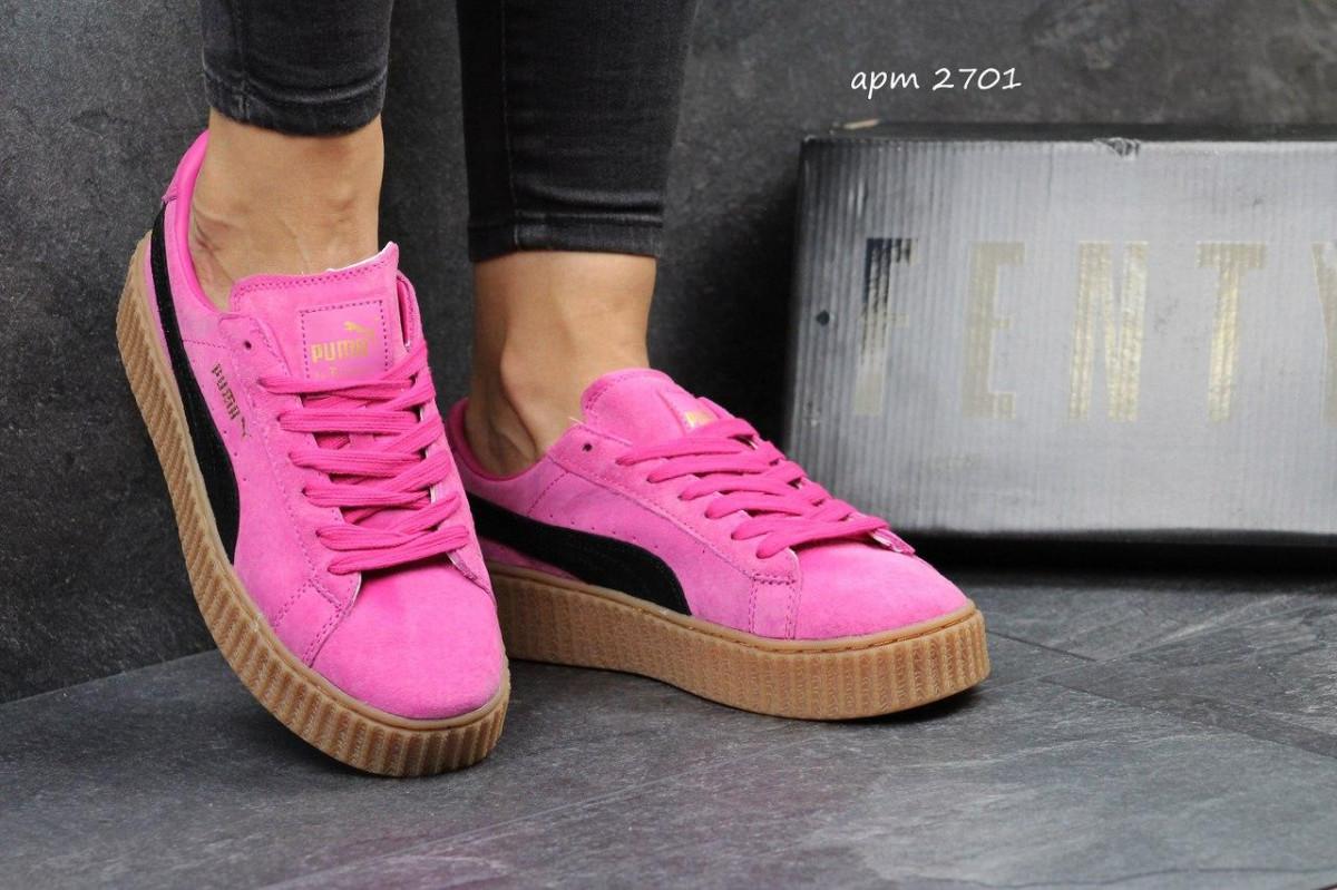 Женские кроссовки Puma Rihanna розовые 2701 - Интернет-магазин
