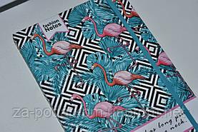 Блокнот Flamingo для записів в лінію з фламінго