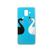 Силиконовый чехол Unique for Samsung A6 2018 Swan