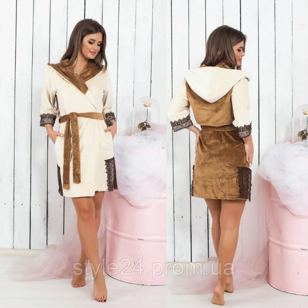 Шикарний  халат з вставками дорогого кружева .Р-ри 42-46