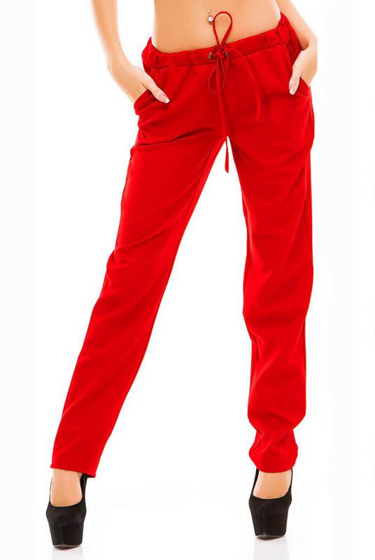 Красные модные брюки Радмила