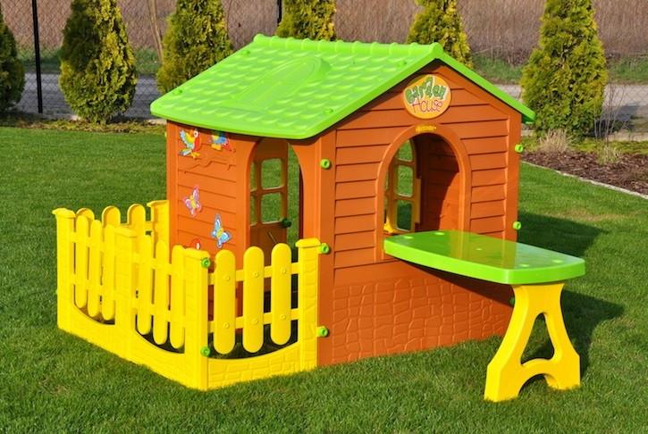 Детский домик с террасой и столиком Mochtoys