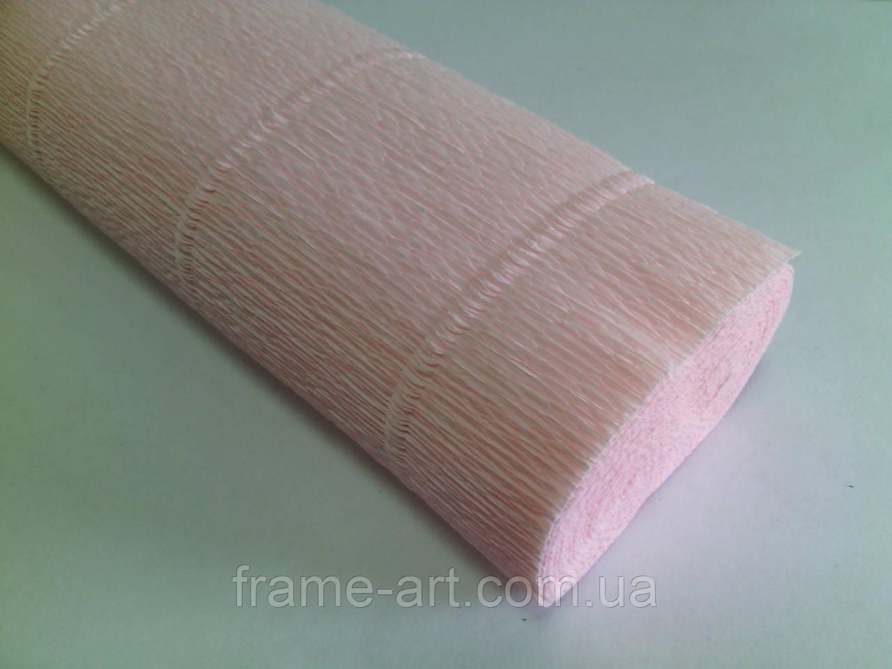 Креп-бумага Италия 50см*2,5м 180г/м2 569 бледно-розовый 074