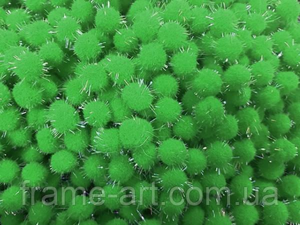 Помпон с лавсаном 5,0см зеленый 163344