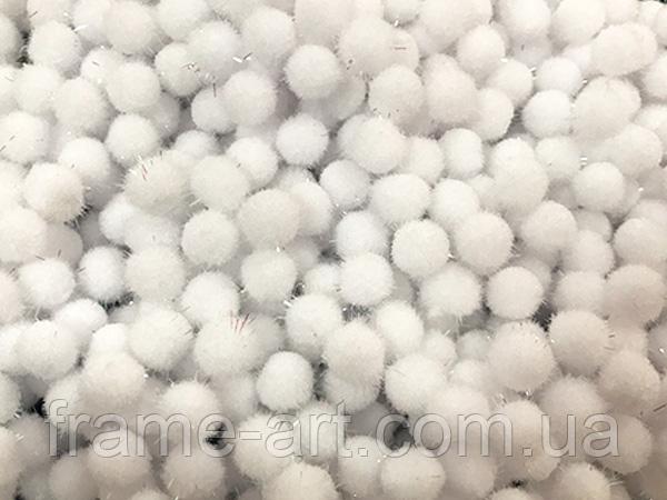 Помпон с лавсаном 5,0см белый 163340
