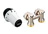 Комплект: термоголовка RAS-C + угловой запорный Н-образный клапан RLV-KS