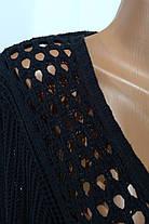 Черная вязаная накидка ANN MARIE кардиган, фото 2