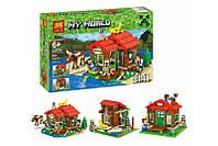 Конструктор My World 3 в 1, Домик у озера 33020, копия LEGO Minecraft, фото 1