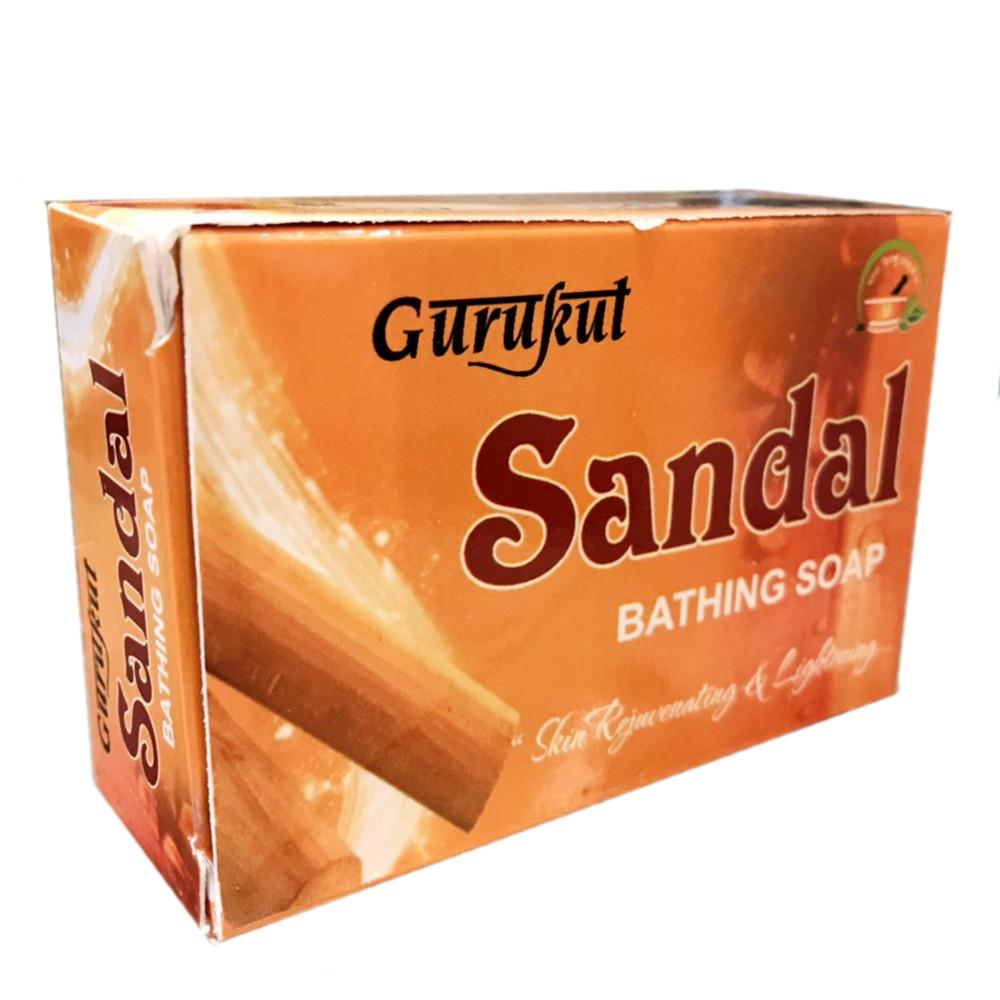 Сандаловое мыло Аюрведа Gurukut Sandal, 90 грамм