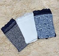 Набор женских хлопковых трусов, комплект из 3-х штук, Турция, размер M, синий + белый