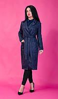 Класичне жіноче півпальто синє, фото 1