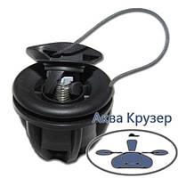 Клапан повітряний Borika, колір чорний, для надувних човнів ПВХ, фото 1
