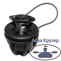 Клапан воздушный Borika, цвет черный, для надувных лодок ПВХ, фото 1