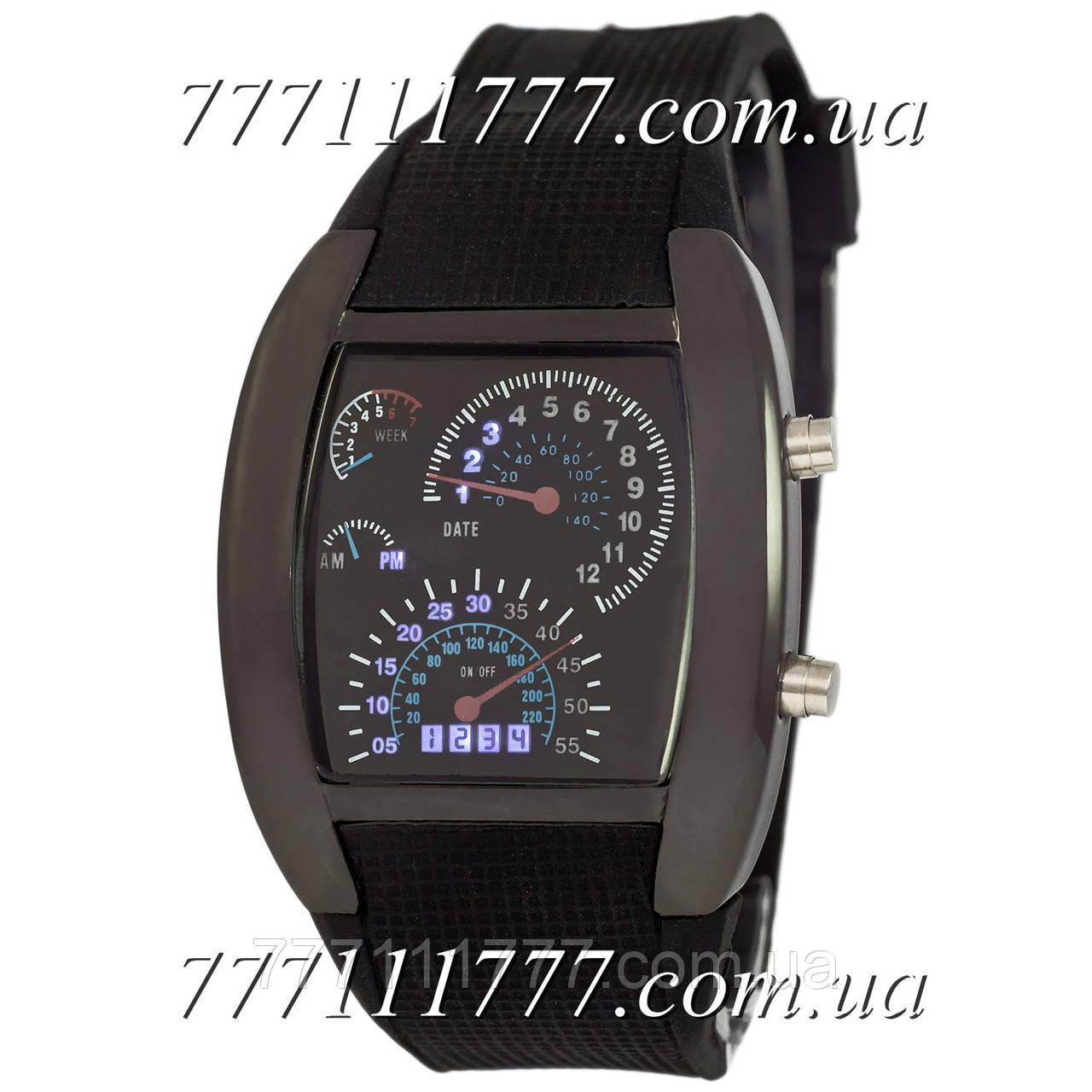 965c4480 Часы мужские наручные Спидометр Led Street Racer All Black: продажа ...