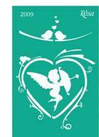 Трафарет многоразовый самоклеющийся Влюбленные сердца 13*20см №2009 ROSA Talent