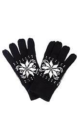 Перчатки мужские с узором 254V004 (Черно-белый)