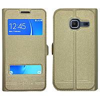 Чехол-книжка Moмax for Samsung J105 gold