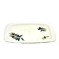 """Блюдо прямоугольное Helios """"оливки"""" 30,5 см (4514)"""
