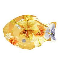 """Набор стеклянных тарелок """"рыба"""" Helios 6 штук (6155)"""