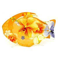 """Тарелка стеклянная """"рыба"""" Helios (6157)"""