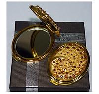 """Карманное зеркальце в подарочной упаковке золотой корпус, коллекция """"Венеция"""""""