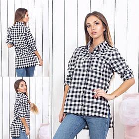 Женская рубашка в клетку / котон / Украина 15-459
