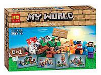 Конструктор Bela 10177 Minecraft 8 в 1 Верстак, 517 дет, фото 1