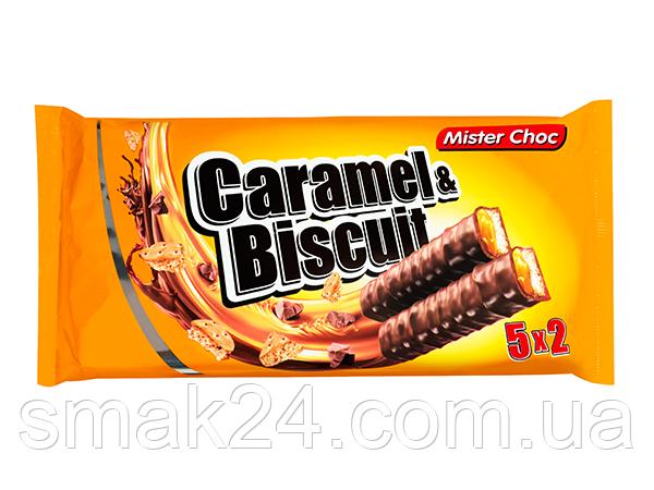 Батончики Carame l& Biscuit Mister Choc 290г (5х2х29г) Германия